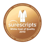ClinicTracker Receives Surescripts 2013 White Coat of Quality Award