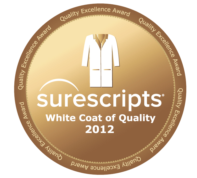 ClinicTracker Surescripts White Coat of Quality 2012